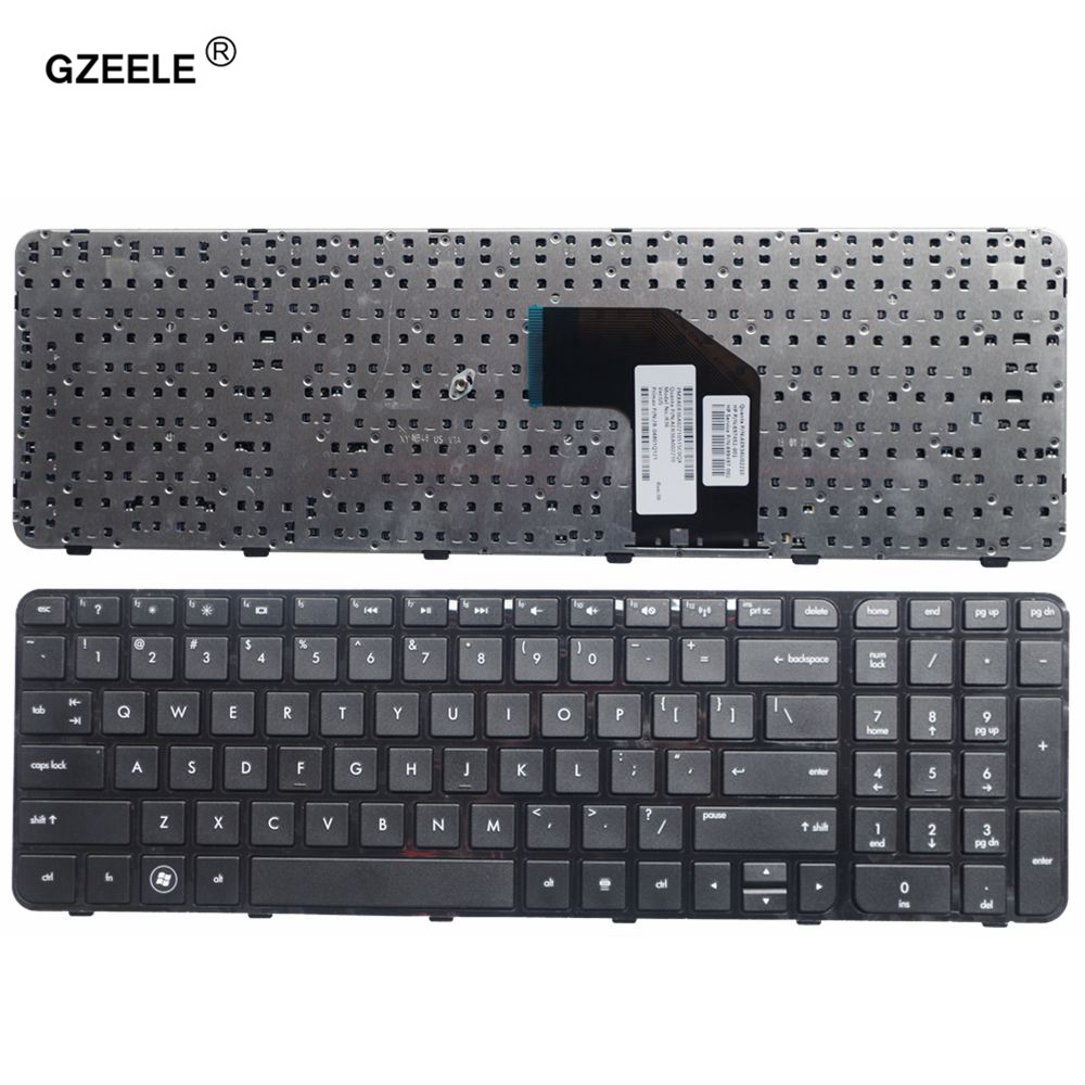 GZEELE English Keyboard For HP For Pavilion G6-2100 G6-2163sr AER36701010 R36 US Laptop Keyboard Black With Frame