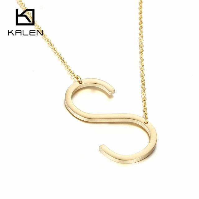 Letter s necklace seatledavidjoel letter s necklace aloadofball Choice Image
