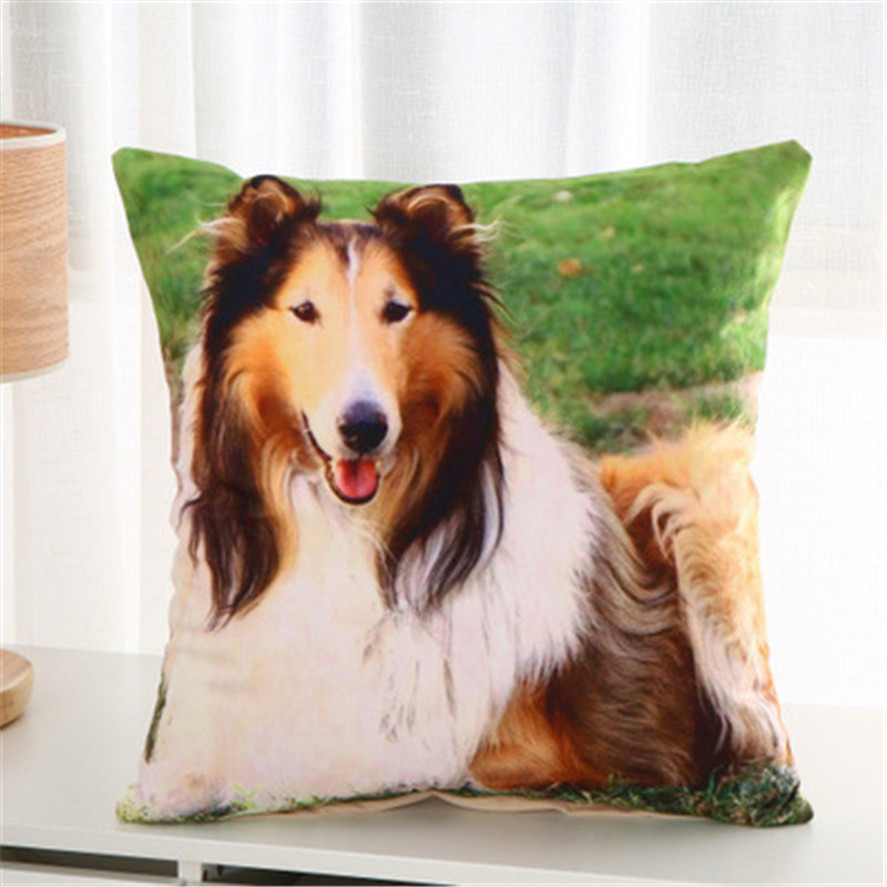 Home Textile Persevering Dog Animal Square Polyester Throw Pillow Case Bronzing Decorative Pillows For Sofa Seat Cushion Cover Home Decor Drop Ma22 Bright And Translucent In Appearance Home & Garden