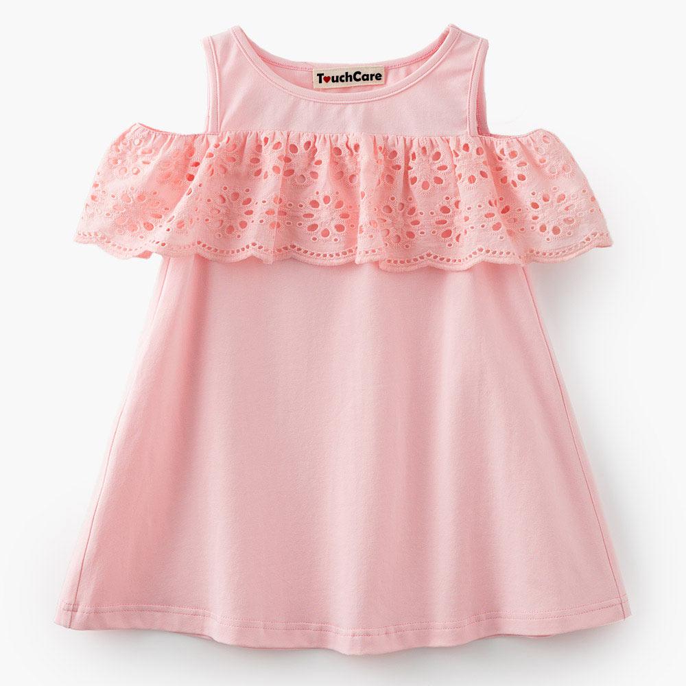 Baby Girl Party Dress Off-Shoulder Dressses Toddler Girl Summer Patchwork Elsa Costume Cotton Girls Summer Solid Princess Dress