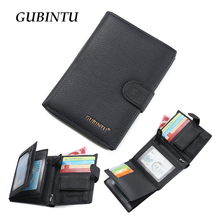 2016 Classical European and American Style Man Wallets 100% Genuine Leather Wallet Fashion Purse passport holder Wallet For Men