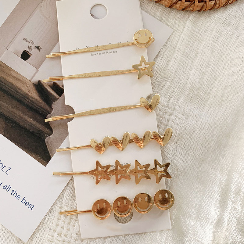 Women Hair clip STAR LOVE HERAT Hairpins For Girls Adult Barrettes Metal Hairgrip Geometric Gold Color hair accessories in Women 39 s Hair Accessories from Apparel Accessories