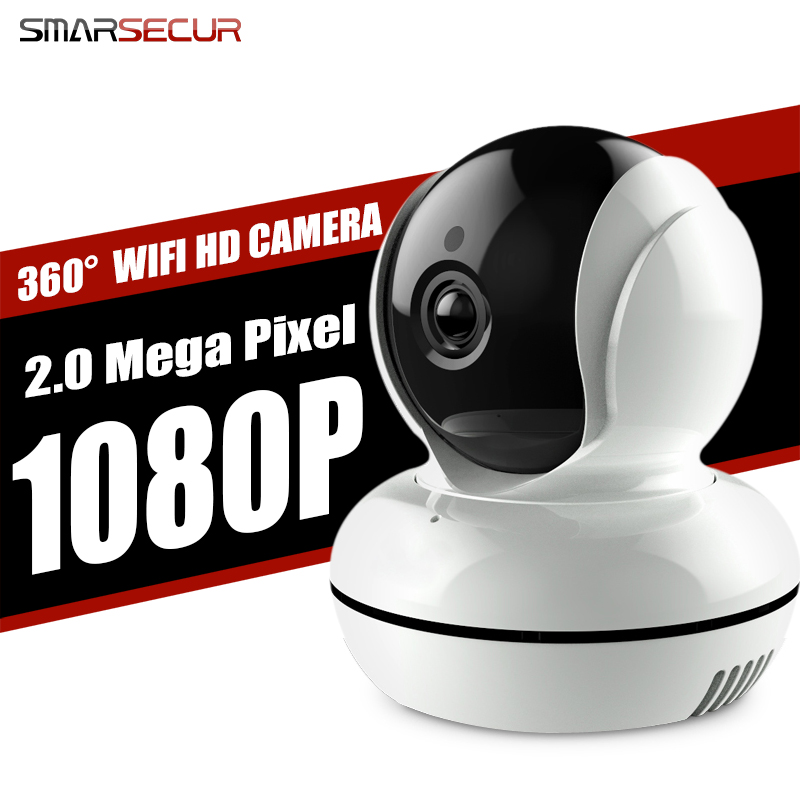 Smarsecur новая версия Wi-Fi IP Камера сети Беспроводной 2.0mp 1080 P HD Камера видеонаблюдения Камера охранных Видеоняни и Радионяни