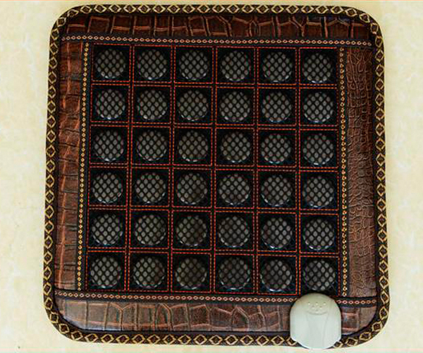Good Quality! Natural Jade Mat Tourmaline Heat Cushion Body Health Care Pad AC220V 45*45CM Free Shipping 2 sets ball the plum flower jade handball furnishing articles hand bead natural jade health care gifts