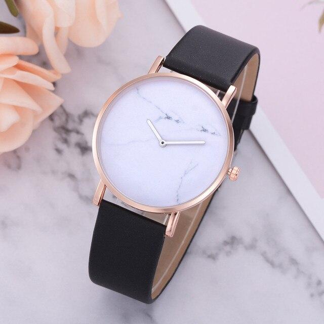 Simple Women Quartz Analog Clock luxury ladies Leather Strap Wrist Watch Luxury