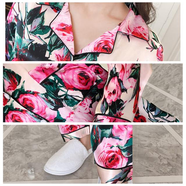 Satin Floral  Pajamas Set