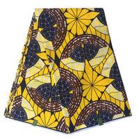 Yellow Colour Fashion Pattern Block Nigerian Style Dutch Ankara Real Wax Java Super Hollandais Wax Batik
