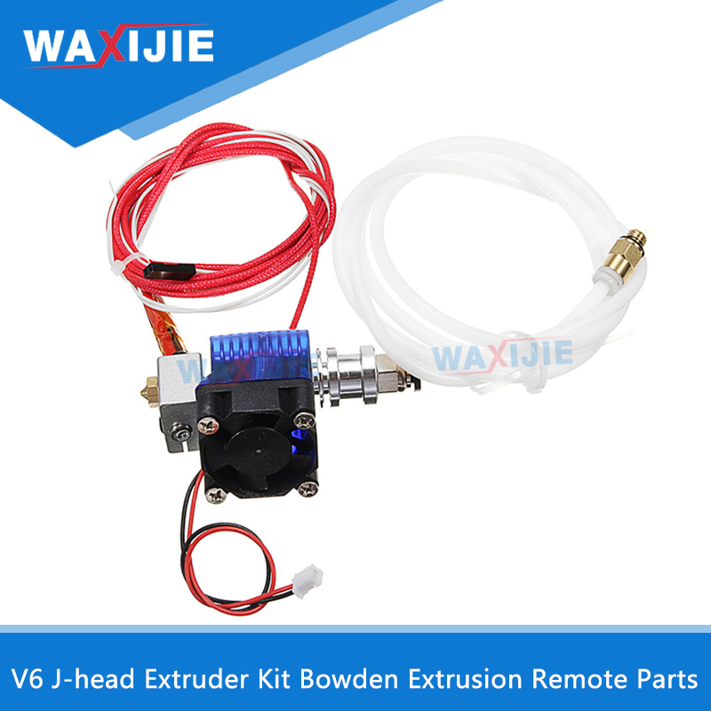 V6 J-Head Extruder Equipment Bowden Extrusion Hotend Head Set 0.2/0.3/0.4Mm Nozzle With Fan Ptfe For 1.75/3Mm Filament Distant Half