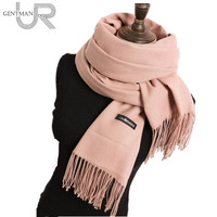 Newest 70 200cm Women Cashmere Fashion Scarf Top Quality Lady S Solid Color Big Scarf Smooth