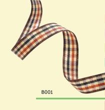 100yards roll 5 8 Inch 15mm High Quality Tartan Plaid Ribbon For Clothing
