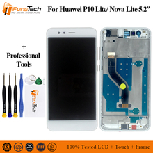 5.2 Inch Brand New LCD With Frame For HUAWEI P10 Lite Lcd Display Screen WAS-LX1 WAS-LX1A WAS-LX2 WAS-LX3