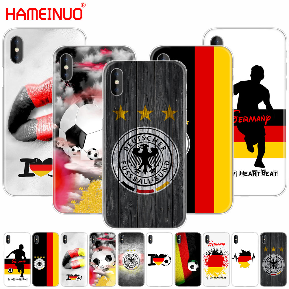HAMEINUO Germany Soccer cell phone Cover case for iphone X 8 7 6 4 4s 5 5s SE 5c 6s plus