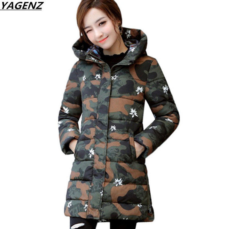 Winter Jackets Coats New Down Cotton Jacket Women  Parkas Thicken Hooded Outerwear Slim Large Size Medium Long Female Coat K616 2016 winter jacket women down coat fur hooded vest down coats vest pant underwear women s suit thicken set outerwear trousers