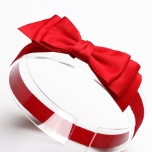 Hot New 2019 Boutique Hair Bows Baby Girl Headbands Solid Red Pink White Color Head Band Hairband KIDS Headwear Hair Accessories