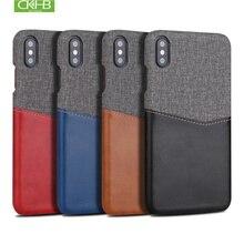 CKHB ретро PU кожаная ткань разъем карты чехол для iPhone X 6 6s 7 8 Plus X для samsung S9/S9Plus/S8/S8Plus защитный чехол