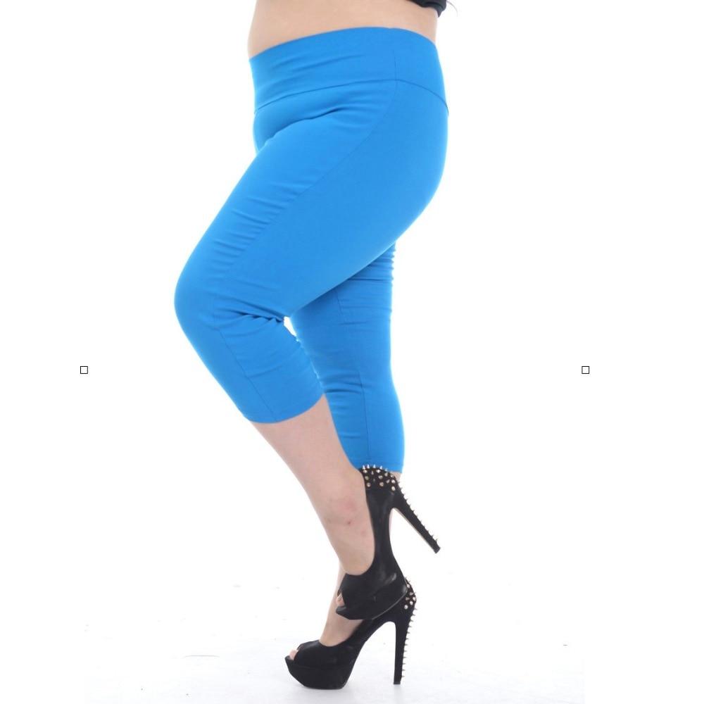 EF568 Plus Size High Waist Women's Capris Woman Leggings White Black Stretch Trousers for Women Spring Pencil Pants Female