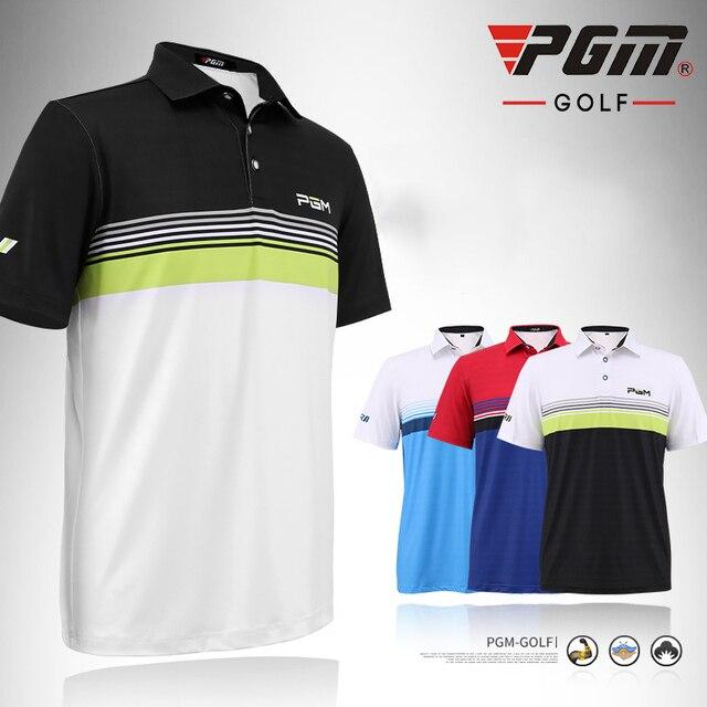 Us 7178 Pgm Golf T Shirt Mannen Zomer Kraagvorm Polyester Ademend Anti Zweet Man Golf Sport Polo T Shirt Kleding Gratis Verzending In Pgm Golf