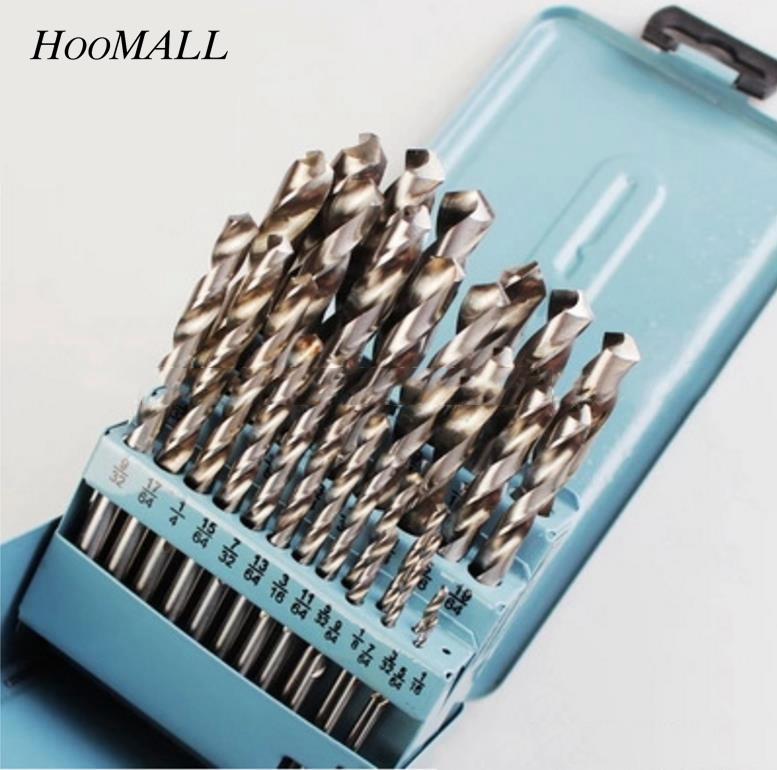 Hoomall 25PCs/Set High Speed Steel Twist Drill Bit Set 1mm-13mm Drill Woodworking For Power Tool Case Packing Drill Bits 99pcs high speed steel twist drill bits 1 5mm 10mm tool with case