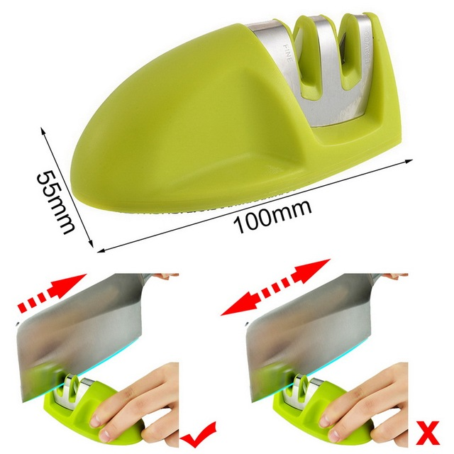 Mini Kitchen Knife Sharpener two Stages (Diamond & Ceramic)