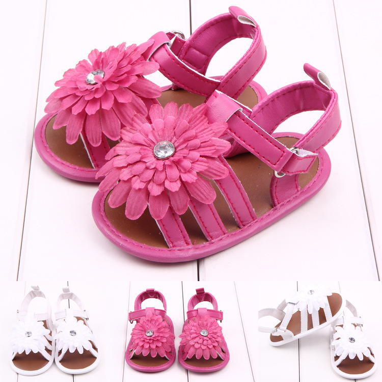 Lovely 1pair Flower summer Baby antiskid Girl First Walkers, 100% Guaranteed Soft Shoes,Brand toddlers/Newborn Prewalker