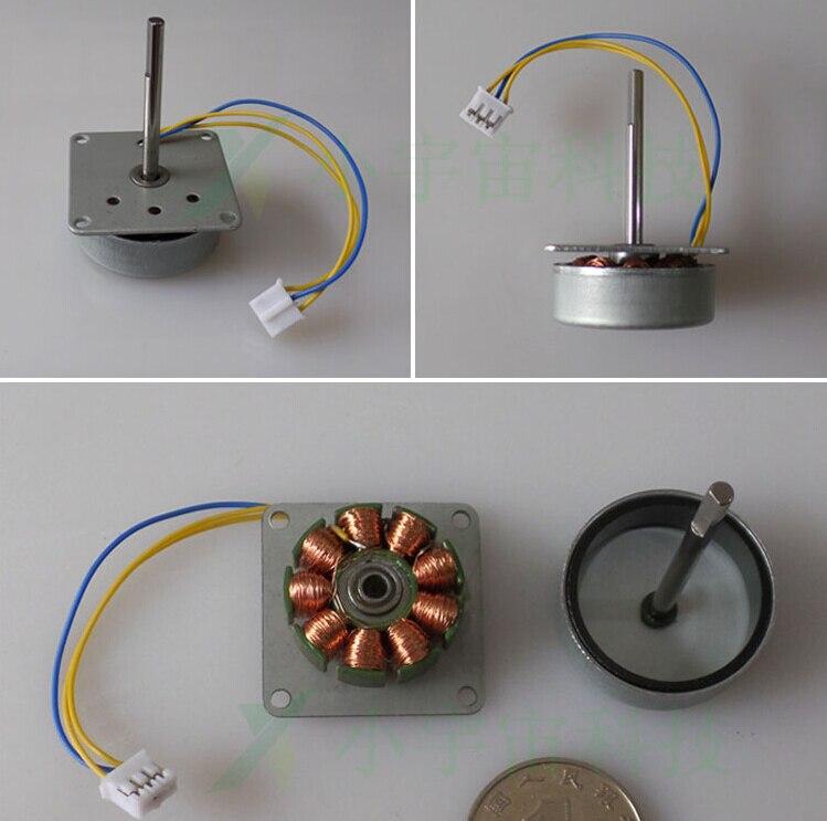 12V Mini Micro 3-phase Alternator Generator Wind Turbines Hand AC Power 3-24V