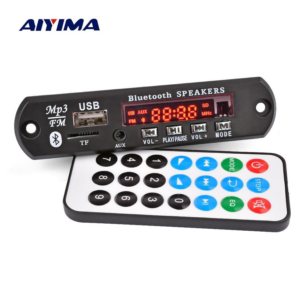 AIYIMA MP3 Decodificador Do Bluetooth Bluetooth 5.0 Áudio Decodificador Bordo AUX Apoio TF Cartão USB Decodificação de Controle Remoto Acessórios Do Carro