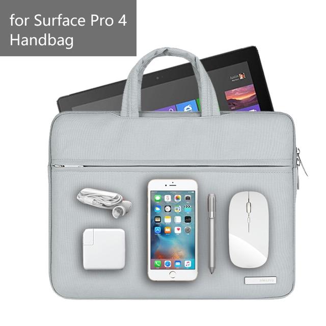 Nueva funda para Tablet para Microsoft Surface Pro 4, bolso impermeable para mujer, bolso para ordenador portátil de 12 pulgadas para Surface Pro 3
