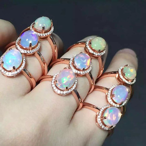 Image 2 - [MeiBaPJ Natural Opal Gemstone Fashion Ring for Women Real 925 Sterling Silver Charm Fine Jewelry