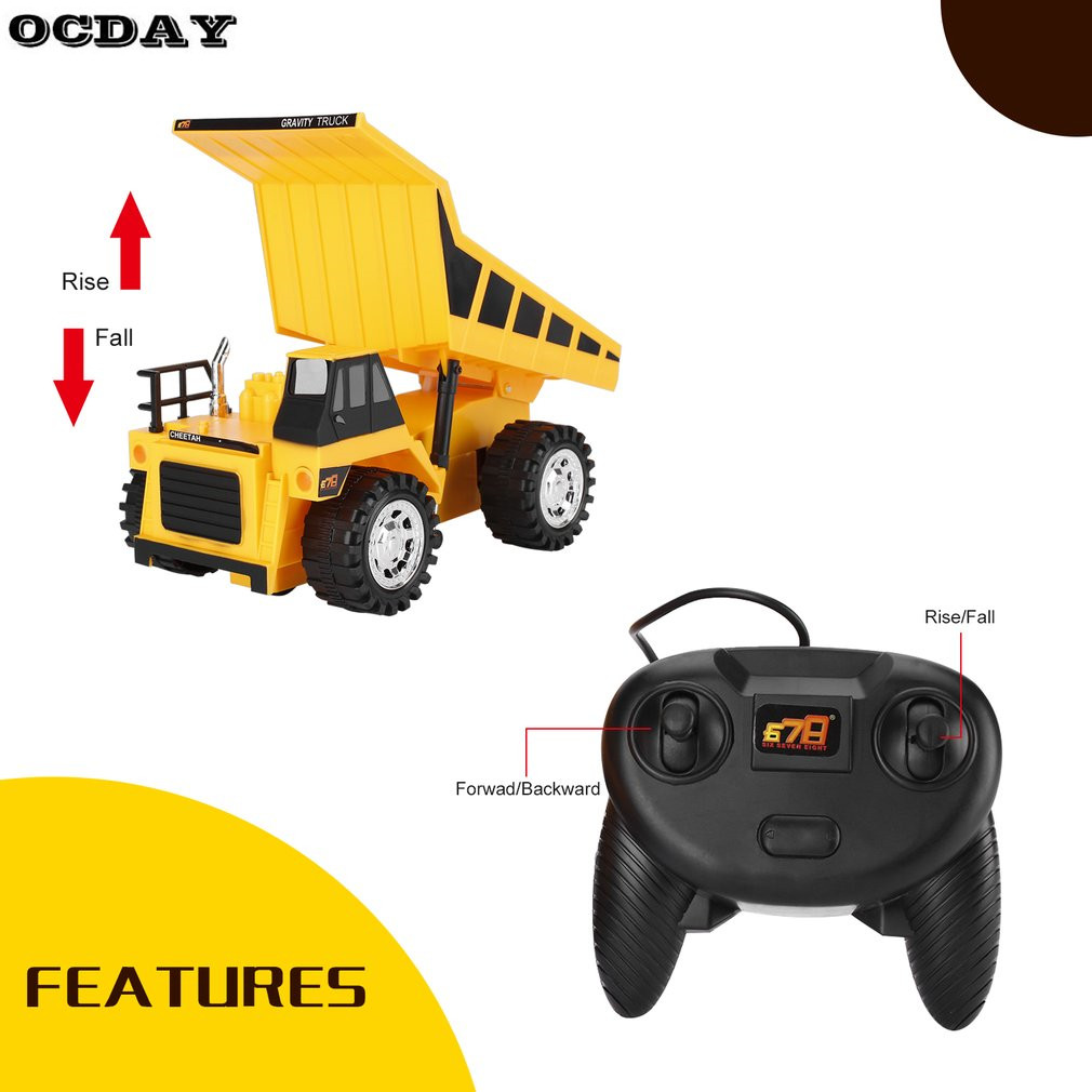 Remote Control Truck RC Toys Trucks Bulldozer Charging RTR Dump-car Construction Vehicle Toys Engineering Car For Kids