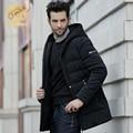 Moda chaqueta de los hombres capa de los hombres de La Calle Negro NUEVO Blanco por la chaqueta de invierno SHENOWA tela a prueba de Viento