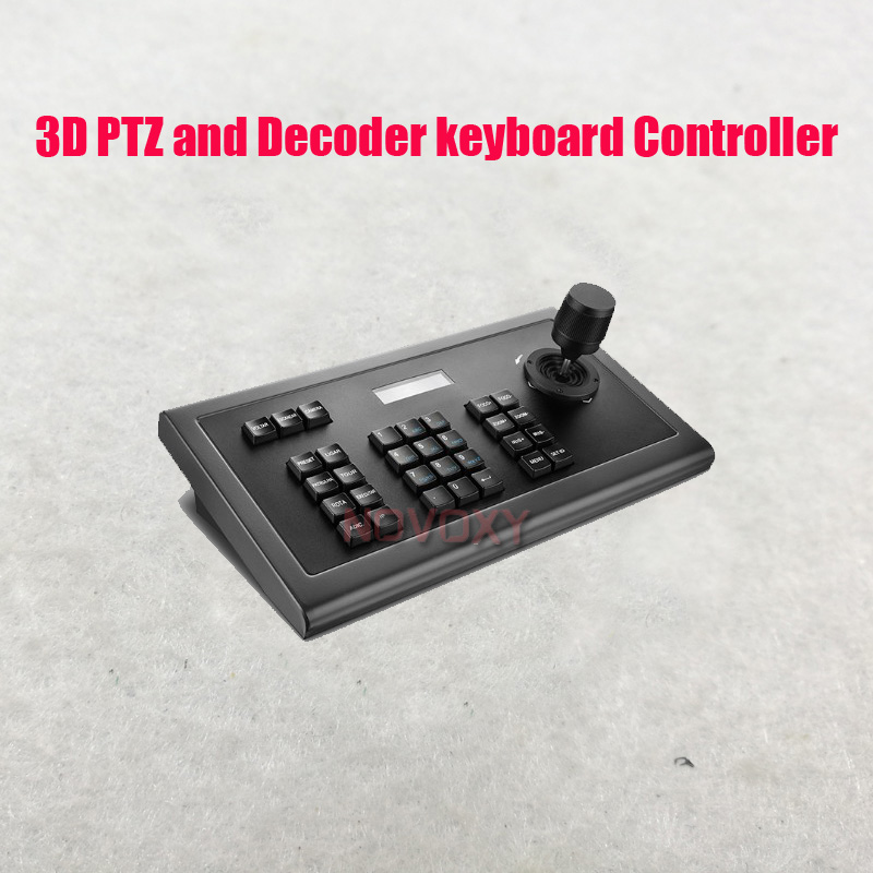 Free Shipping CCTV 3D PTZ And Decoder Keyboard Controller For CCTV  PTZ Speed Dome Camera