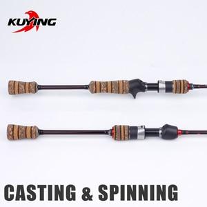 "Image 2 - Kuying Teton L Licht 1.98M 66 ""Zachte Casting Spinning Lokken Hengel Pole Cane Carbon Medium Snelle Actie forel 2 10G Fuji"
