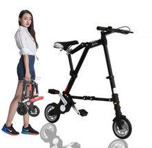 Marka nowy Ultra lekki 8 10 Mini składany rower przenośne na świeżym powietrzu metra tranzytu pojazdy składany Bicicleta tanie tanio Ze stopu aluminium ze stopu aluminium Unisex 6 5 kg 0 03 m3 160-185 cm Nie Amortyzacja Tylny hamulec bębnowy Rama twardego (nie tylny amortyzator)