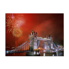 Fireworks Bridge Pattern Table Decoration Bowl Disc Mats Pad for Dinner Dining Accessories Kitchen Placemat Napkin