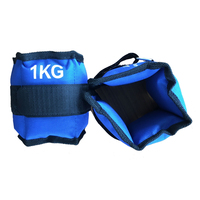 a pair of 1kg Adjustable Ankle Weights Iron Sand Bag Weights Straps for gym Exercise Fitness Running protect