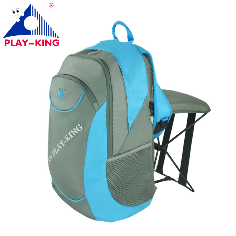 PLAYKING Fishing Folding Steel Stool Backpack Multi-function Sport Bag Outdoor Travel Nylon Polyester Backpacks Woman C1313 Рюкзак