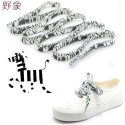 Зебра черный и белый украшение для шнурка узор цветной обуви шнурки плоские шнурки английский стиль обуви шнуровки шнурки печать