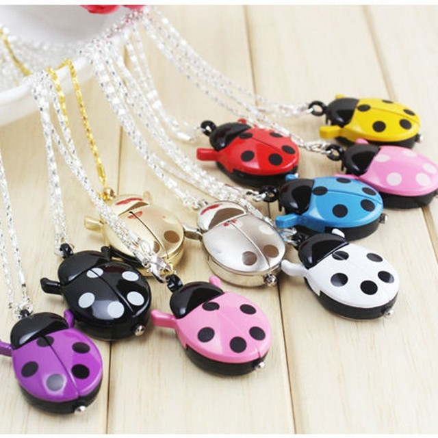 New Brand Fashion Colorful multicolor Ladybug Necklace Pocket Pendant Sweater ch