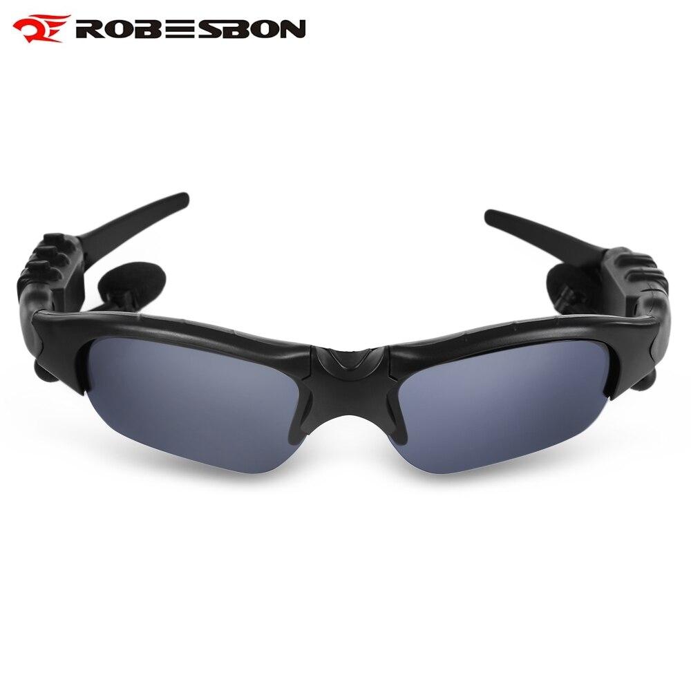 Prix pour Robesbon Son Stéréo Bluetooth Mains Libres lunettes de Soleil Lecteur de Musique avec Microphone Réglable Soleil en Plein Air Pour Vélo