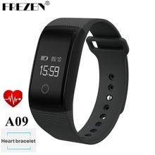 Frezen Сенсорный экран A09 Смарт-часы браслет кровяного давления монитор сердечного ритма шагомер фитнес Смарт Браслет PK miband2