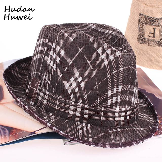 300f9732 striped Cheap Summer short brim Panama Fedora Hats Jazz Borsalino Hat Beach  Sunhat Waterproof fast Dry Cap for men women