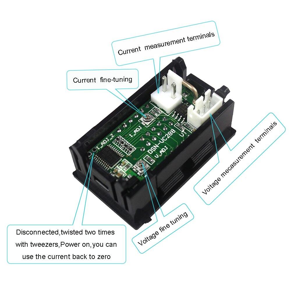 HTB13WPkcBKw3KVjSZTEq6AuRpXaa High Quality DC 100V 10A Voltmeter Ammeter Blue + Red LED Amp Dual Digital Volt Meter Gauge