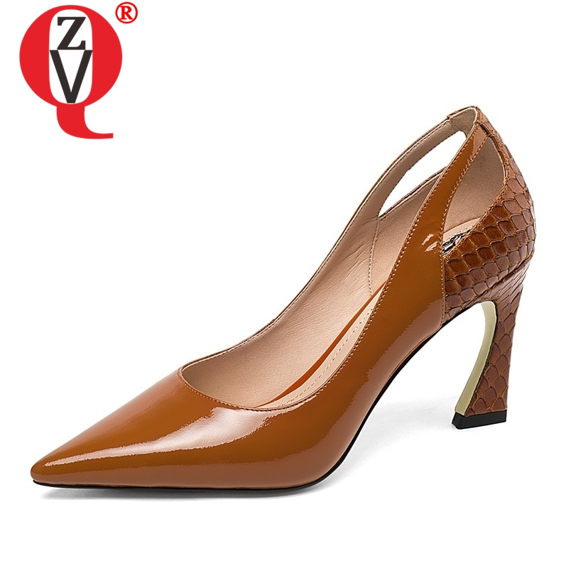 ZVQ shoes woman spring new fashion sexy patent leather party woman pumps outside super high thin heels plus size ladies shoesZVQ shoes woman spring new fashion sexy patent leather party woman pumps outside super high thin heels plus size ladies shoes