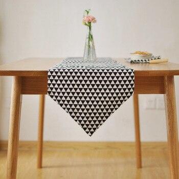 Скандинавский, простой, современный геометрический стол Бегуны для свадьбы черный стол флаг чайный стол флаг тканевое