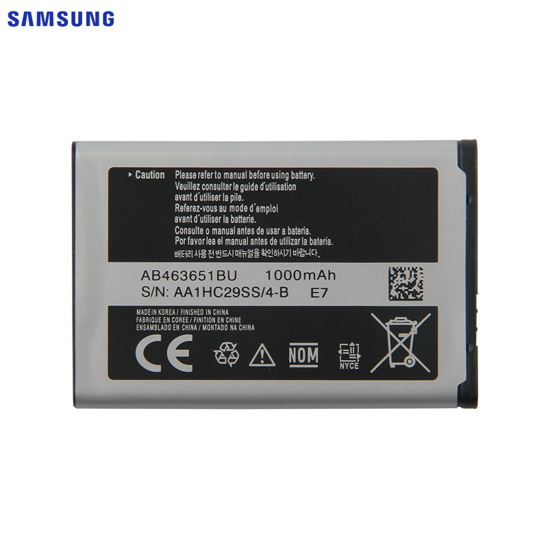 <font><b>SAMSUNG</b></font> Original Replacement <font><b>Battery</b></font> AB463651BU For <font><b>Samsung</b></font> J800 S3650 S7070 S5608 S3370 <font><b>L700</b></font> S5628 C3222 B3410 F339 S5610 W559 image