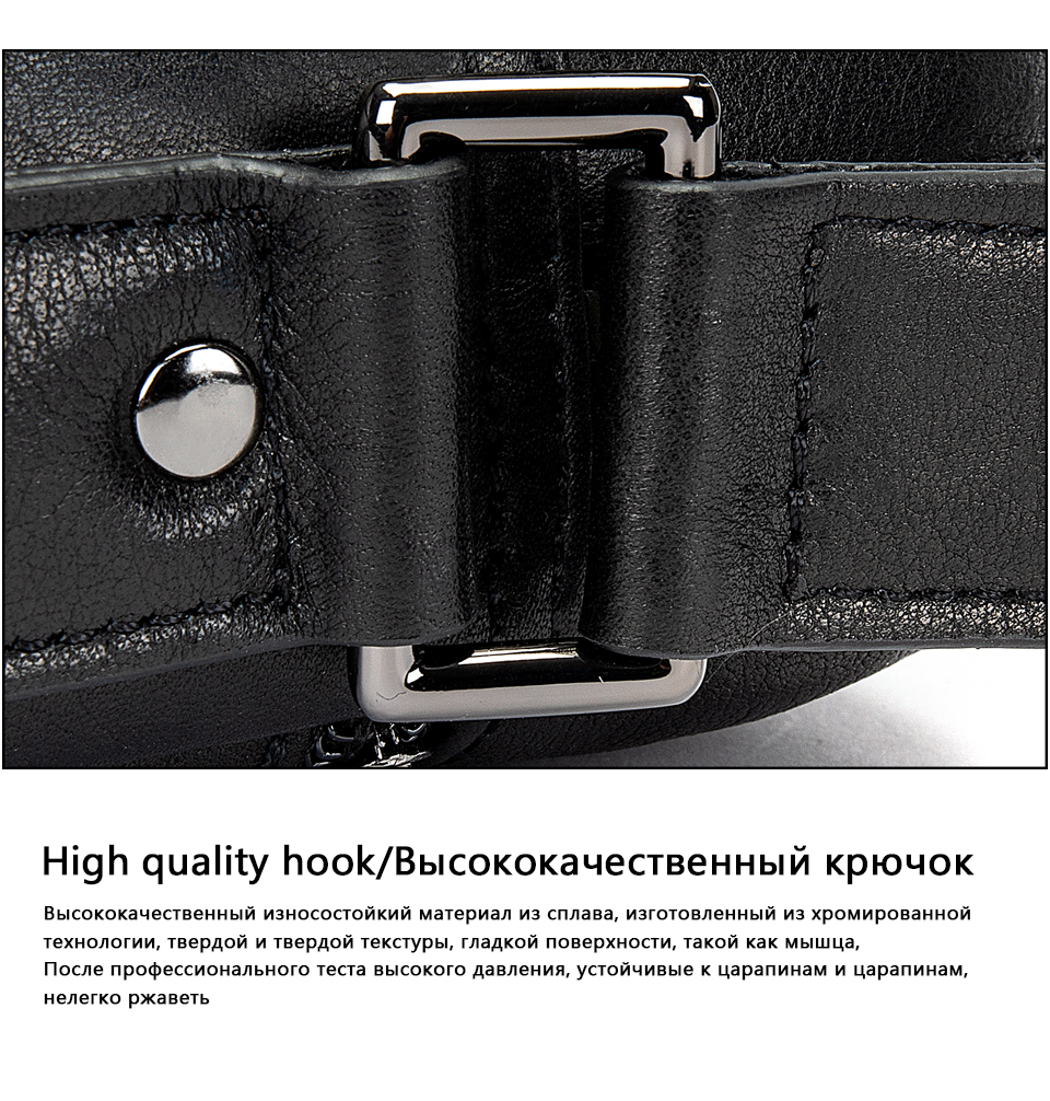 Men's Shoulder Bag for Men Crossbody Bags Genuine Leather Flap Small Male Bussiness Handbags with Zipper Messenger Bag 17