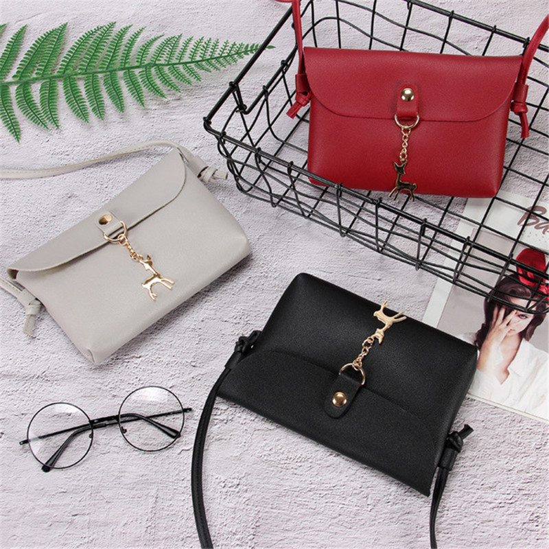 Punctual New Crossbody Shoulder Bag Pop Ladies Bag Metal Deer Pendant Mini Mobile Phone Bag Fashion Shoulder Bag Nb051 Women's Bags