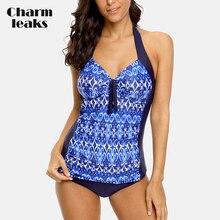 Charmleaks Womens Tankini Set Vintage Floral Print  Swimwear Tied From Bandaged Swimsuit Bathing Suit цена 2017