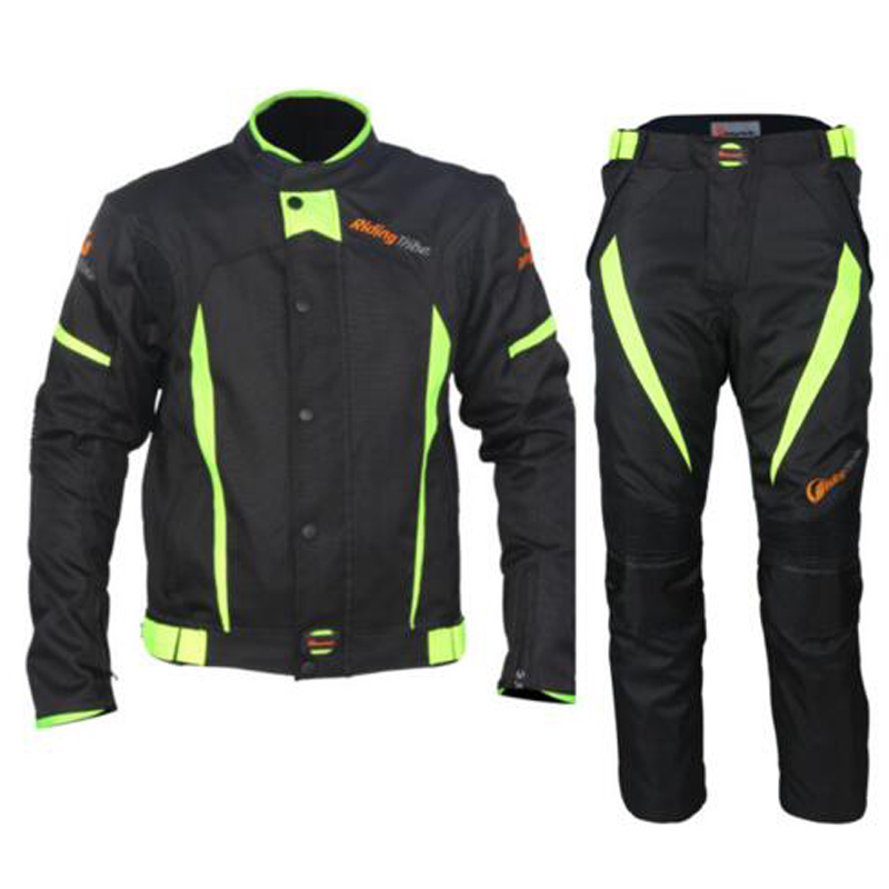 riding tribe reflective Motorcycle Protective Jackets riding Pants Sports Set Clothing Suit ATV Motocross Summer Jacket-in Trousers from Automobiles & Motorcycles    3