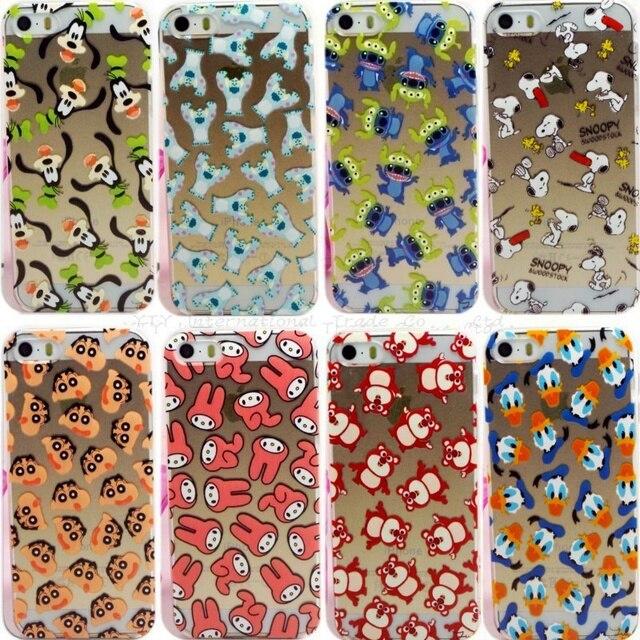 Para 5/5S SE 4 ''Casos de Telefone Dos Desenhos Animados Capa Para O iPhone Da Apple 5 5S SE Caso Shell Para iPhone5/5S Cobre O Transporte Livre Quente venda
